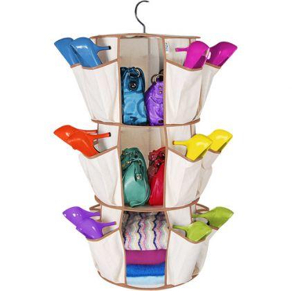 Органайзер за чанти и обувки въртележка