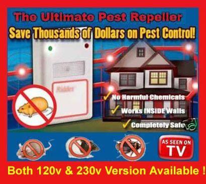 Ултразвуков уред против мишки  плъхове  гризачи  ,хлебарки