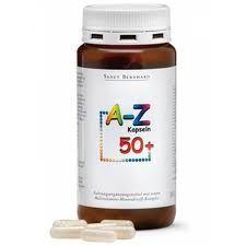 """Мултивитамини и минерали """"A-Z 50 +"""" Подсилена формула за лица над 50 години!"""