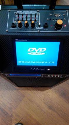 Активна акумулаторна караоке система с вградено DVD и 7 инчов дисплей